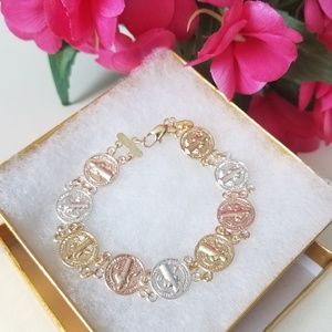 Jewelry - Tri Color St. Benedict Medal Bracelet